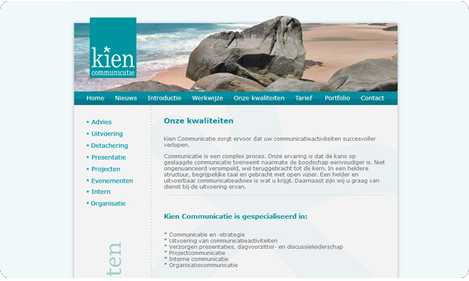 Website Kien Communicatie