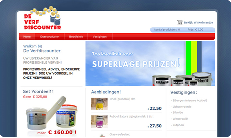 Website De Verfdiscounter